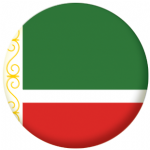 Chechen Republic Flag 25mm Flat Back